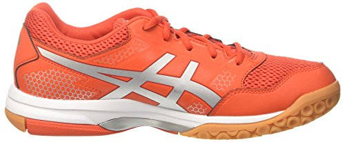 ASICS Men's Gel-Rocket 8, Cherry Tomato/Silver/Fiery RED Cherry Tomato/Silver/Fiery Red