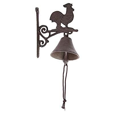 Rooster Farm 6 x 7 Inch Cast Iron Decorative Wall Mounted String Door Bell