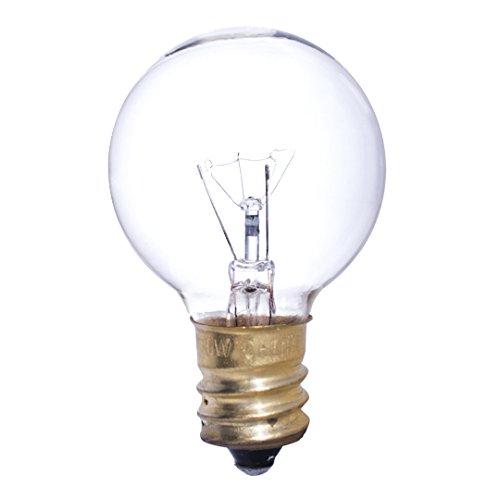 Bulbrite 301010 - 50PK - 10W - G12 - Candelabra Base - 130V - 2700K - 2,500Hrs - Clear - Incandescent Globe Light Bulbs