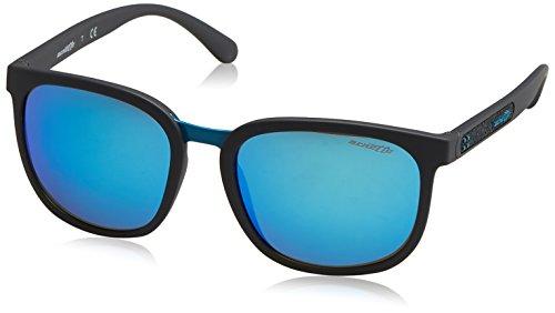 Arnette Men's Tigard Non-Polarized Iridium Square Sunglasses, Matte Grey, 55 - Crooked Sunglasses Are