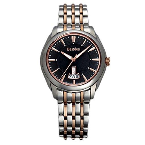 Bestdon Swiss Men's Business Wrist Watch Best Autumaic Mechanical Watch Gormment Dial Date-day Calendar