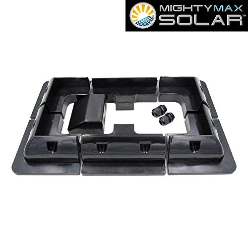 Mighty Max Battery Universal ABS NO Drill RV Solar Panel Mount Brand Product