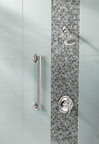 Chrome Moen YG0736CH Iso Bathroom Safety 36-Inch Designer Grab Bar
