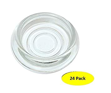 Amazoncom  A29 24Pack Clear Glass Furniture Coasters  Caster