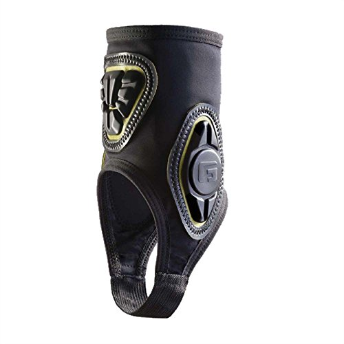 G-Form Pro-X Ankle Guard, Black/Yellow, Small/Medium