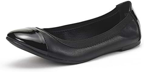 DREAM PAIR SOLE-FLEX New Women's Flexible Elasticized Topline Comfortable Ballerina Flats Shoes