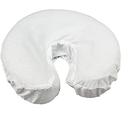 Body Linen Simplicity Poly Cotton Massage Face Cradle Covers - Clean, Crisp Fabric for Frequent Use and Washing, Colorfast and Latex-Free, Fits All Standard Massage Tables