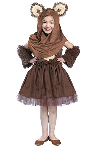Princess Paradise Girls' Classic Star Wars Premium Wicket Dress, Brown, Large ()