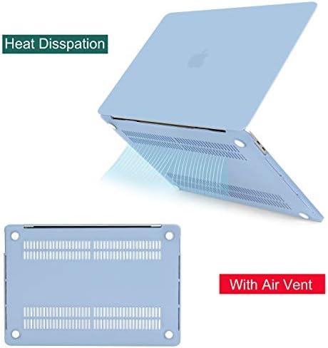 MOSISO Funda Dura Compatible con 2020 2019 MacBook Pro 16 Pulgadas con Touch Bar A2141, Ultra Delgado Carcasa Rígida Protector de Plástico con Cubierta de Teclado, Aireado Azul: Amazon.es: Electrónica