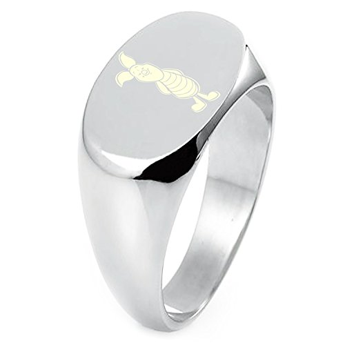 - Sterling Silver Disney Winnie the Pooh Piglet Engraved Oval Flat Top Polished Ring, Size 7