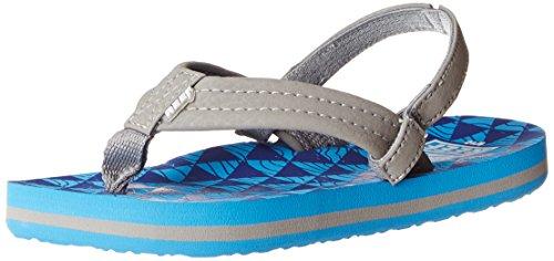 Reef Ahi Boys' Flip Flop (Little Kid/Toddler/Big Kid),Blue/Blue Stacked,7/8 M US Toddler