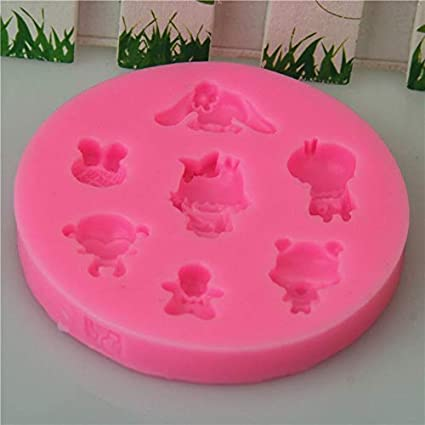 Clay Resin Wax Mold 3D Silicone Chocolate Soap Cake Mix Minnie Mouse Beauty Fashion Doll House Salon Fondant Cupcake Gypsum Cookies