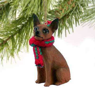 Miniature Pinscher Miniature Dog Ornament - Red (Miniature Pinscher Accessories)