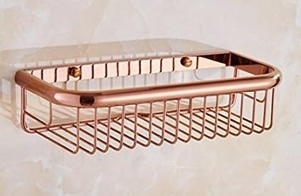 Mensole Bagno Fai Da Te : Diongrdk il rame europea mensola per bagno senza chiodi cesto rosa