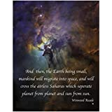 Lagoon Nebula Art Photo from the Hubble Space Telescope with an Inspirational Quote- 11x14 Unframed Art Print- A Great Gift for Future Astronauts, Astronomers, Science Lovers- Limited Time Intro Price