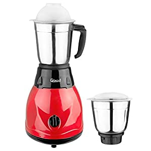 Gixoo Diamond 450-Watt Mixer Grinder with 2 Jars Color-Red & Black