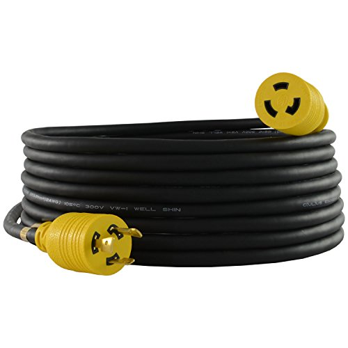Conntek RUL620PR-025 25-Feet 12/3 20-Amp 250-volt L6-20 Anti-Weather, Oils, Acids and Chemicals Rubber Locking Extension Cord