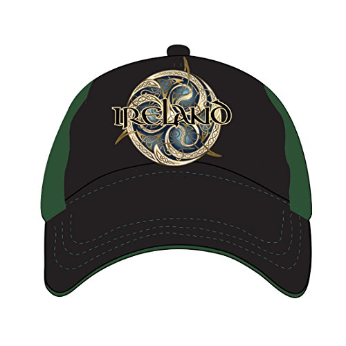 - Carrolls Irish Gifts Black and Green Baseball Cap with Celtic Ireland Design