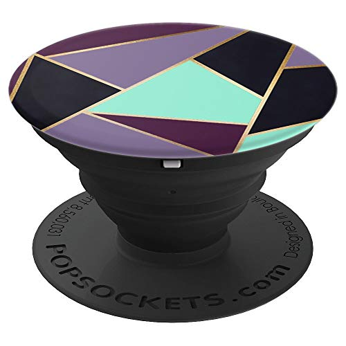 Plum, Violet and Teal Geometric Design - PopSockets Grip and Stand for Phones and Tablets