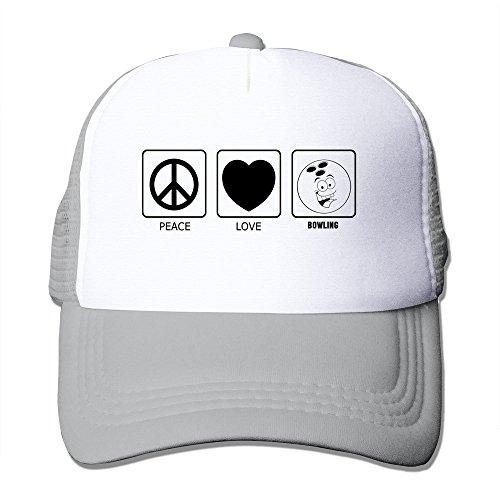 Peace Love Bowling Mesh Back Cap