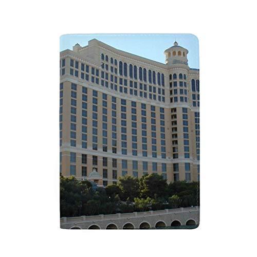- KOiomho Passport Cover - Holder for Men Women Kids - ?Travel Case Las Vegas Bellagio Hotel Beautifully 5.5 inch