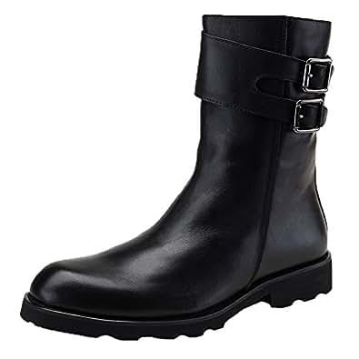Amazon.com | Santimon Men's Combat Boots Leather
