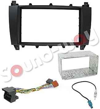 Kit de montaje de doble DIN coche estéreo para Mercedes Clase a B