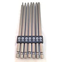 7 Piece Extra Long Hex Shank Torx Bit Set