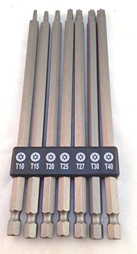 7 Piece Extra Long Hex Shank Torx Bit Set (Extra Long Torx Bit Set)