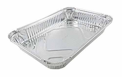 4 lb. Oblong Aluminum Foil /Dinner TakeOut Pan Disposable Trays 50 Pack