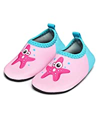 JIASUQI Baby Toddler Swim Water Shoes Aqua Skin Socks Quick-Dry Barefoot for Beach Swim Pool