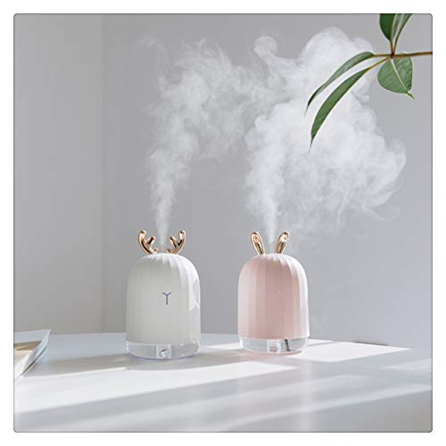 ninepaipai 220ML Ultrasonic Air Humidifier Aroma Essential Oil Diffuser for Home Car USB Fogger Mist Maker with LED Night Lamp - Lamp Maker Mist