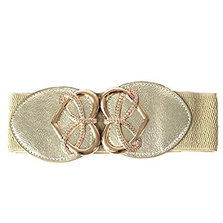 03f23122b Trimming Shop Golden Waist Belt For Women Ladies Girls With Golden Heart  Shape Buckle, Stretchable