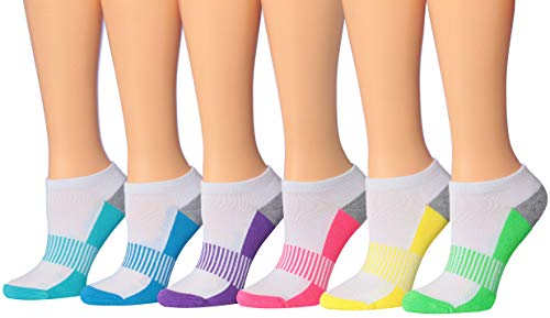 Tipi Toe Women's 6-Pairs Low Cut/No Show Athletic SPort Socks WS18-A