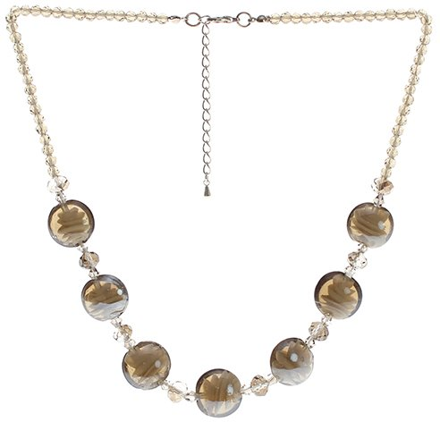 "Lova Jewelry ""Moon Shadow"" Hand-Blown Venetian Murano Glass Necklace - Crystal Venetian Necklace"