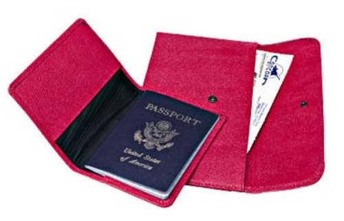 Travel Pouch and Passport Cover Available in Rodeo Red by Raika
