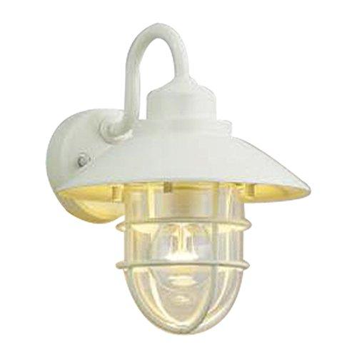 コイズミ照明 LED防雨型ブラケット(白熱球60W相当)電球色 AU38414L B00DS2WPRI 12578  オフホワイト