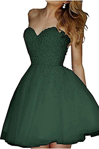 Ballkleider Gruen Gruen Cocktailkleider Braut Prinzess mia Dunkel Elegant Olive A Abendkleider Mini La Abiballkleider Herzausschnitt Linie Kurz wHg7qpI