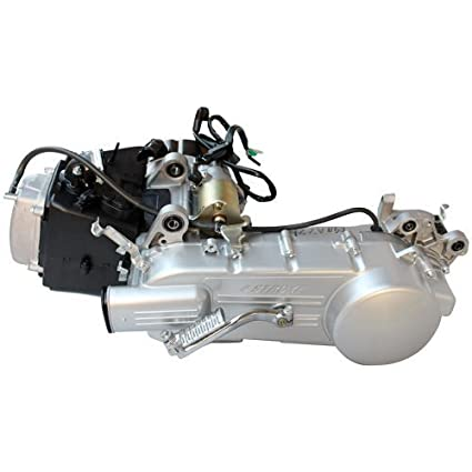 long case 150cc 4-stroke gy6 air cooled moped scooter engine w/cvt automatic