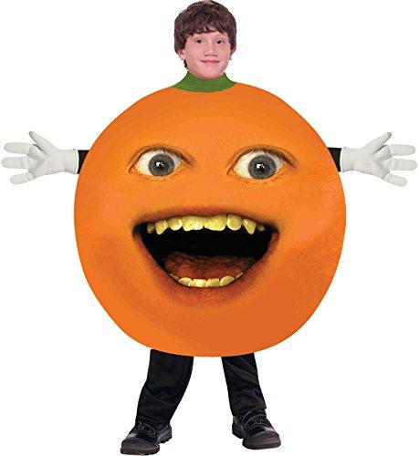 UHC Boy's Annoying Orange Fruit Food Funny Theme Outfit Child Halloween Costume, Child L (Annoying Orange Theme)