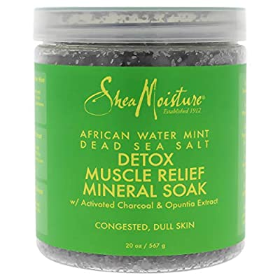 Shea Moisture African Water Mint Dead Sea Salt Detox Muscle Relief Mineral Soak By Shea Moisture for Unisex - 20 Oz Bath Soak, 20 Ounce