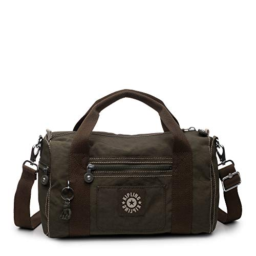 - Kipling Tag Along Duffle, Essential Travel Bag, Multi Pocket, Zip Closure, Jaded Green