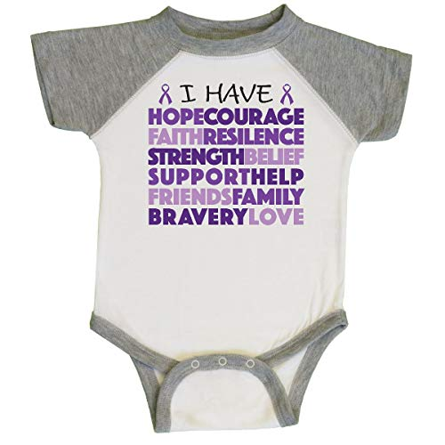 inktastic - I Have.Purple Text Infant Creeper Newborn White and Heather 2730f ()