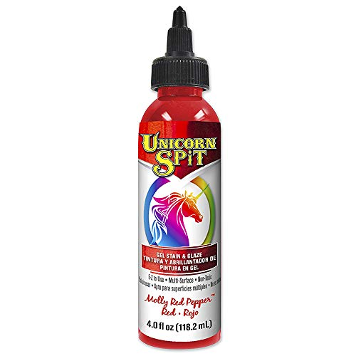 Unicorn SPiT 5770002 Gel Stain and Glaze, Molly Red Pepper 4.0 FL OZ ()