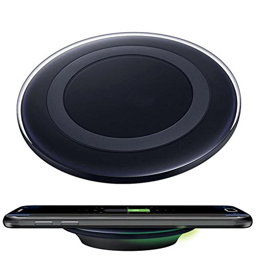 Price comparison product image For Samsung Galaxy S8/S8 Plus Smartphone,Qi Wireless Charging Charger Pad Fast (Black, S8 / S8 Plus)
