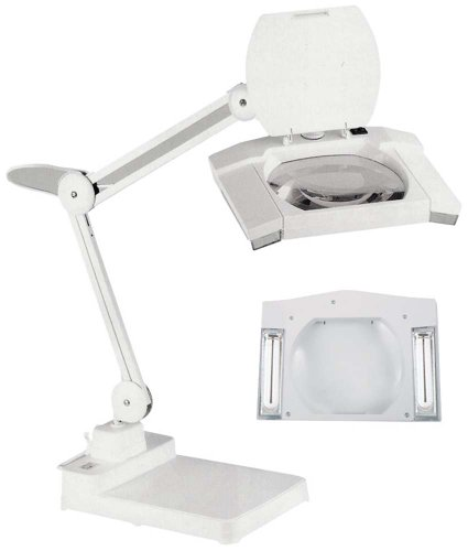ELUCIDATE 3x/5x Fluorescent White Magnifier Lamp (Arm Fluorescent Magnifier)