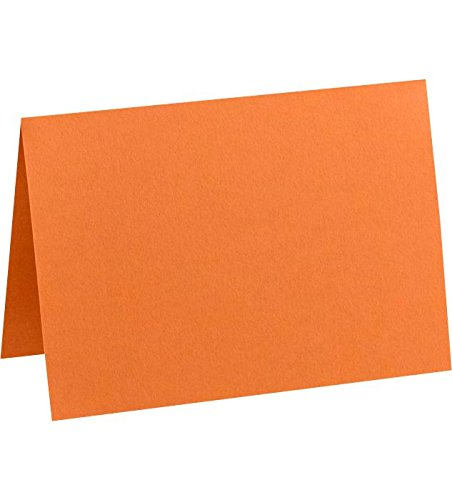 A1 Folded Notecards (3 1/2 x 4 7/8) - Mandarin Orange (1000 Qty.) by Envelopes.com