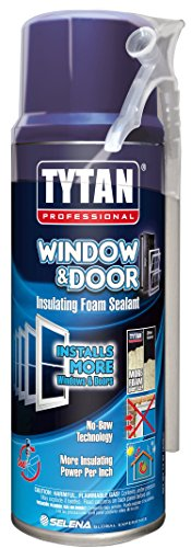 TYTAN Professional 03265 Off White Window and Door Insulating Foam Sealant, 12 oz. Straw Aerosol Can (Pack of 12)