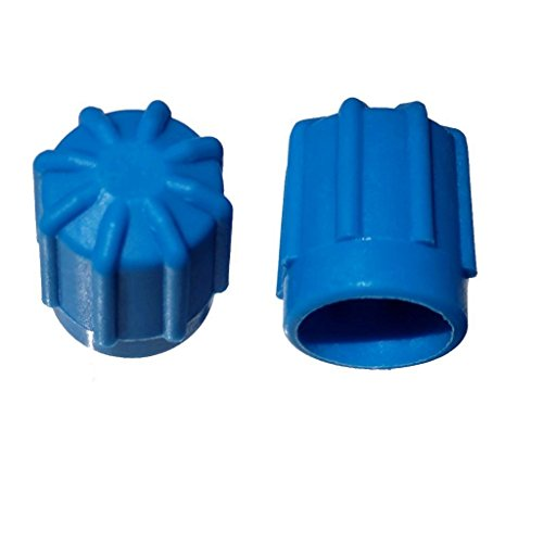 Buy Auto Supply # BAS03026 (50 Count) M8x1.0 Thread Blue Low Side A/C Service Cap Charge Port Valve for Air Conditioning Systems Aftermarket Replacement For MT0192 Fits Porsche Vehicles