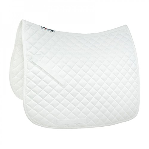 Horze Prinze Dressage Saddle Pad - White - Size: Full for sale  Delivered anywhere in USA